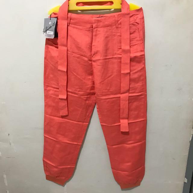 Peach 3/4 Pants