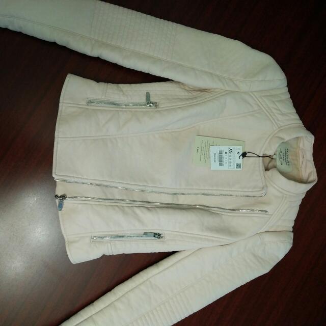 Pink Faux Leather Zara Jacket