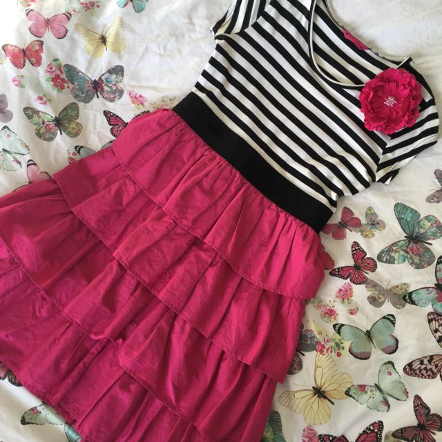 Pink Stripy Dress