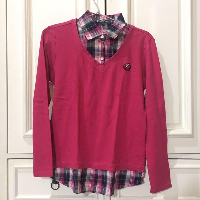 Pink Sweater by Hangten