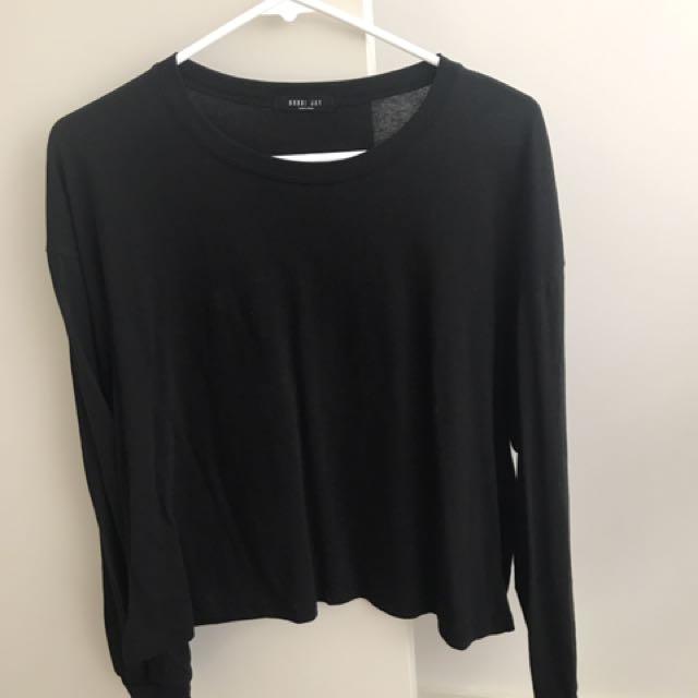 Plain Long Black Sleeve