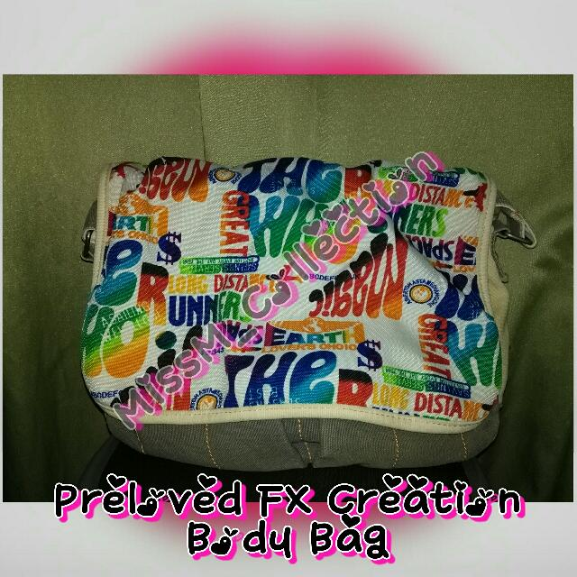 REPRICED! Preloved FX Creations Body Bag