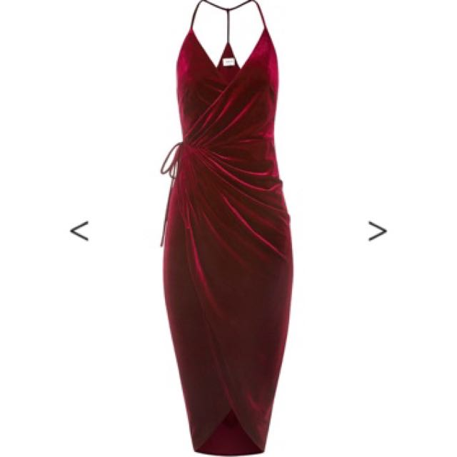 Red Velvet Sheike Dress Size 8