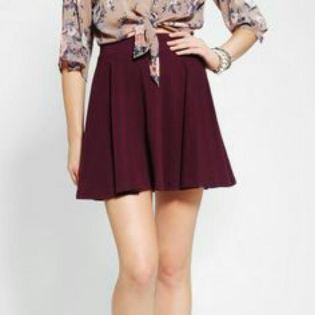*REDUCED* Urban Outfitters Pleated Purple A-Line Skater Skirt