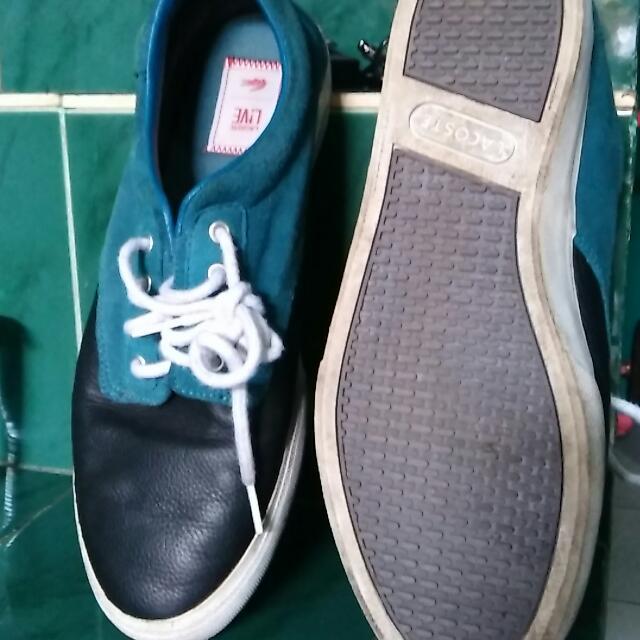 sepatu lacoste full leather upper ori
