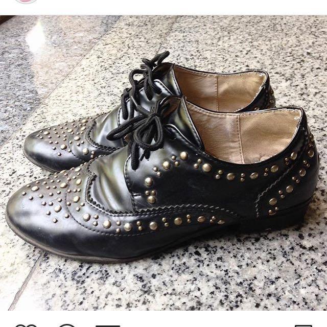 Something Borrowed Shoes Black Studded Zalora
