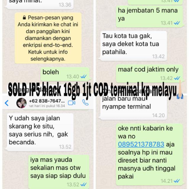 testi ip5 16gb black cod kp melayu