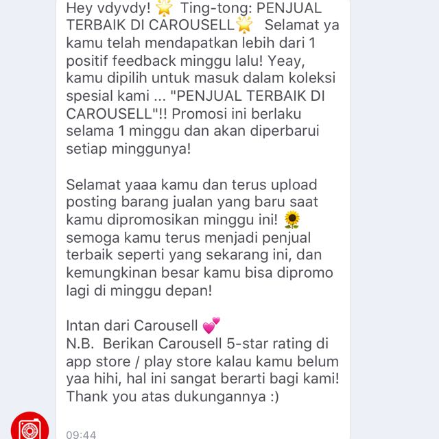Thank You Carousell❤️