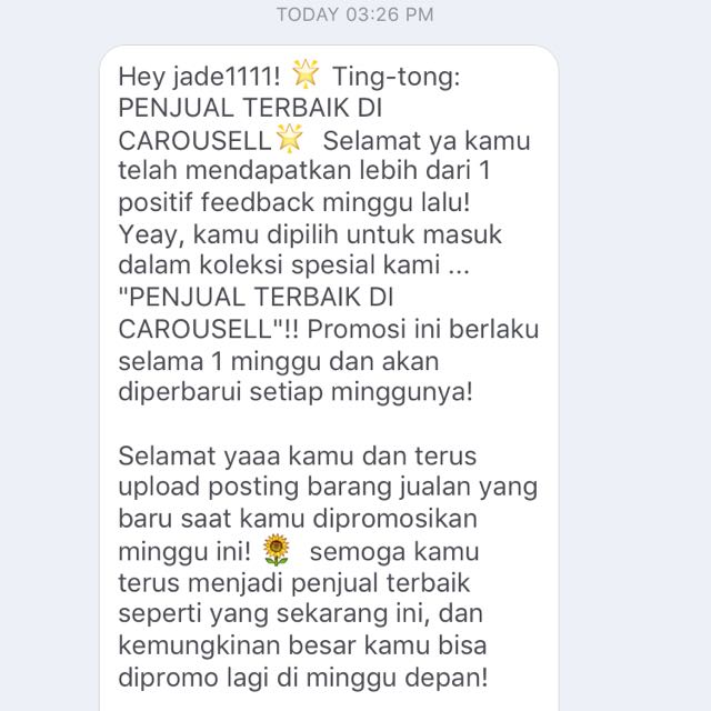 Thank You Carousell 🎉