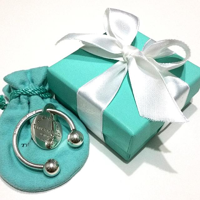 2688b73a7 TIFFANY & CO Return to Tiffany Collection Round Tag Key Ring Extra ...