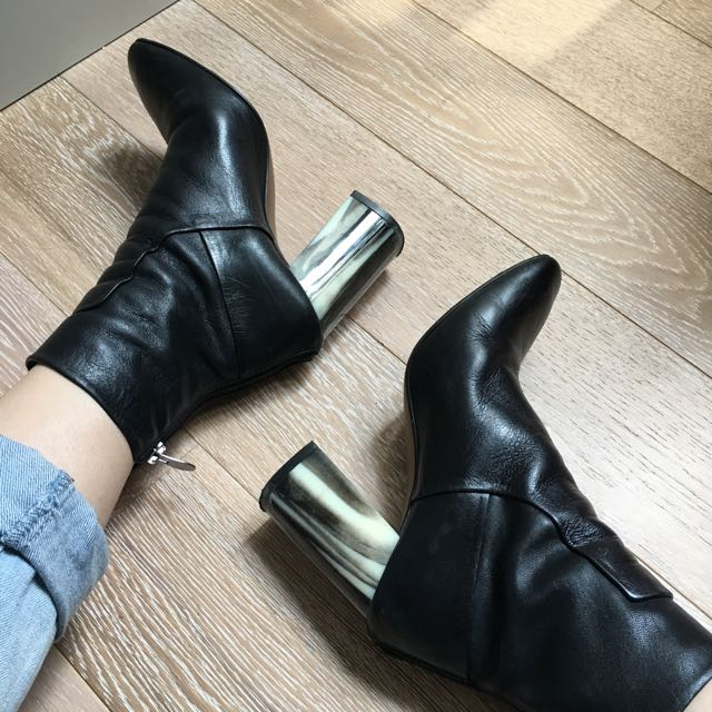 Topshop Marble Heeled Boots
