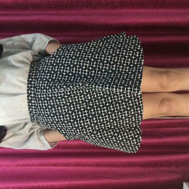 Topshop Monochrome Skirt