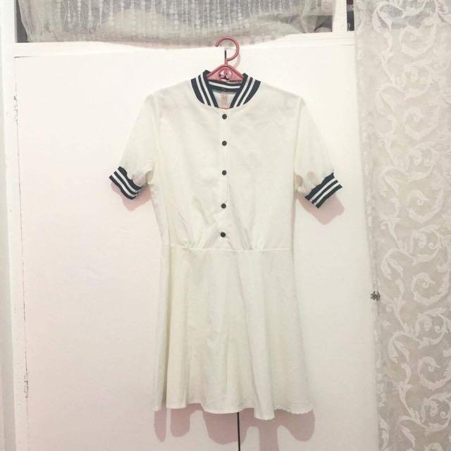 White Baseball Dress