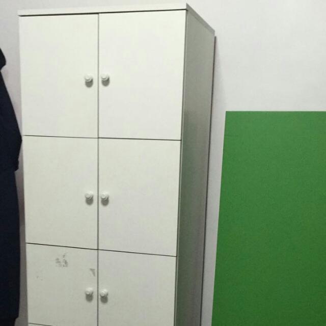 White color cabinet or storage shelves