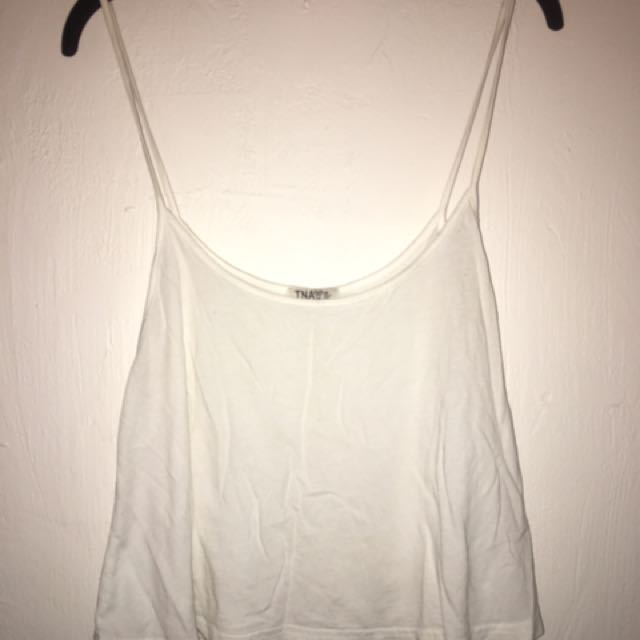 White Loose Tank Top