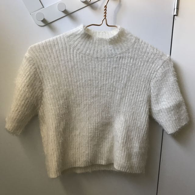 White Short Sleeves Knitwear