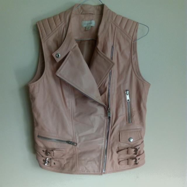 Witchery Faux Leather Vest Size 10