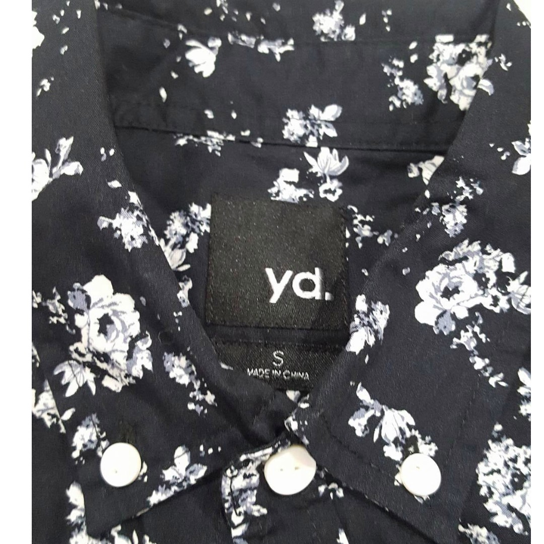 YD Mens Short sleeve button up Shirt