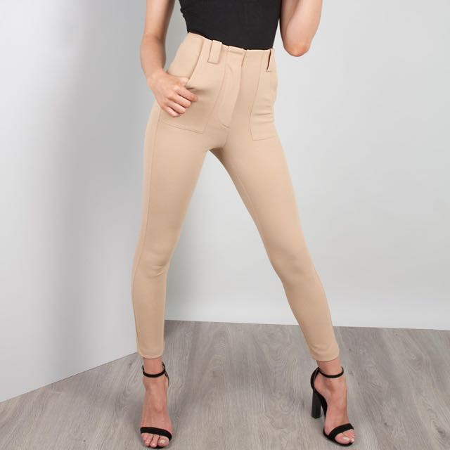 Zachary The Label, Nude Cigarette Pants