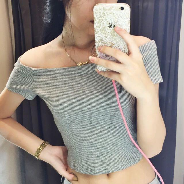 ZARA Sabrina Cropped Shirt