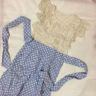Lace Polkadot Dress