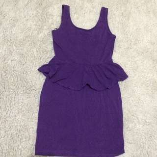 New Look Sexy Mini Dress (purple)