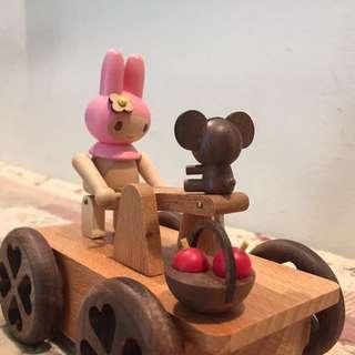 Wooderful life三麗鷗美樂蒂手搖車木質音樂盒