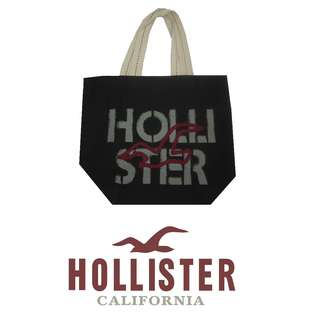 Auth. HOLLISTER White Canvas Beach Shopping Tote Bag