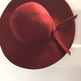 Beautiful Burgundy/red Hat