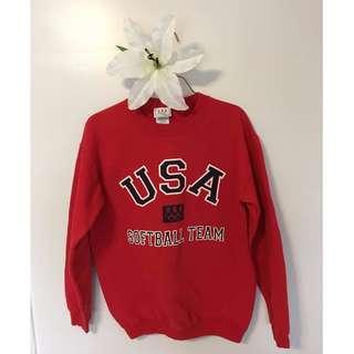 Vintage USA Olympic softball sweater