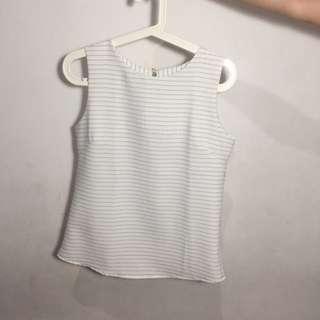 stripe tank top (white)