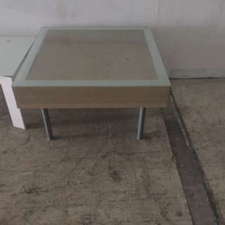 1pc white Small Square Glass Center Or Coffee  Table In Angeles Pampanga