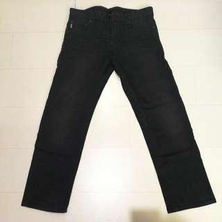 100% Authentic Men Armani Exchange Long Black Black Jeans