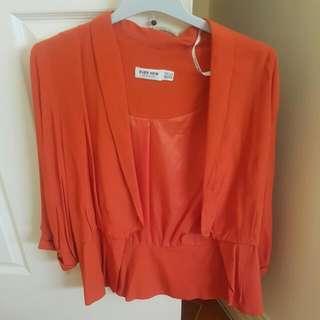 Orange Forever New Blazer