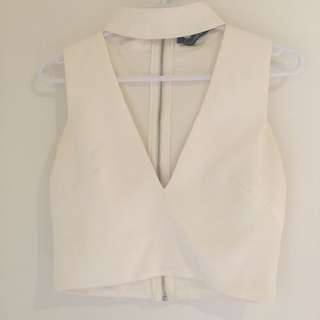 White Chocker Top Size 6
