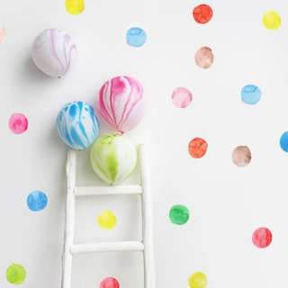 Watercolor Polka Dots Wall Decal Stickers