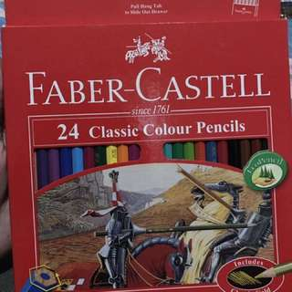 PENSIL WARNA FABER CASTLE 24SET ASLI💕