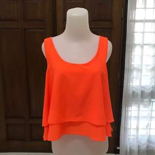 Pull And Bear Neon Top