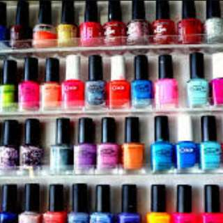 Many Many Nail Polishes Branded