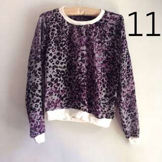Purple Animal Print Pullover