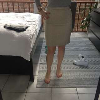 Light Powder Pink Pencil Skirt