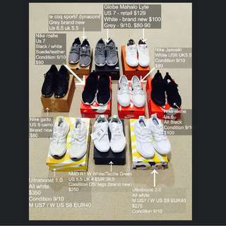 Adidas & Nike Sneakers All US 6 - 7