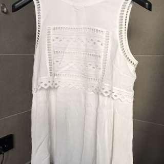 Seed Like New White Singlet Shirt