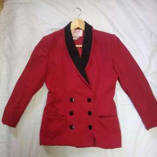 Red Formal Coat
