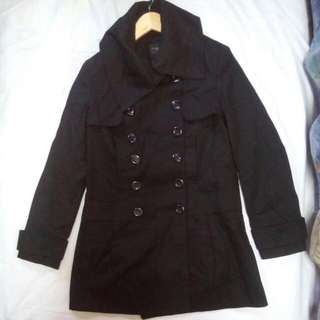 Black High Fashion Coat
