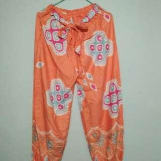 Celana Batik Orange,