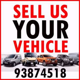 Sell Us Your Car or Commercial Vehicle at High Price