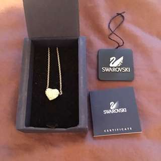 Swarovski Heart Necklace Like New