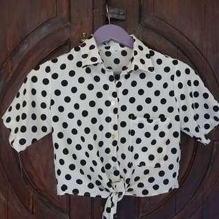 Crop Polka Shirt