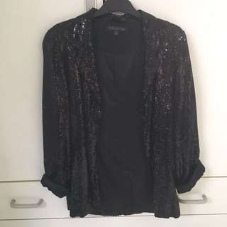 Forever New Sequin Jacket
